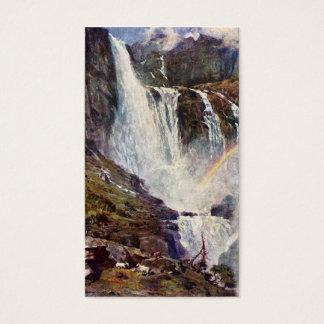 Norwegian waterfall business card
