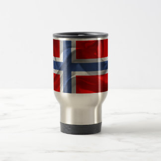 Norwegian waving flag travel mug