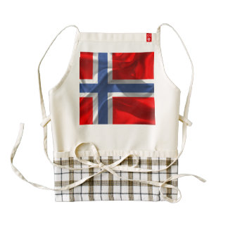 Norwegian wavy flag zazzle HEART apron