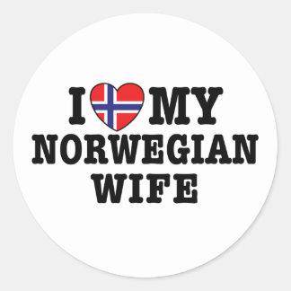 Norwegian Wife Round Sticker