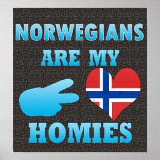 Norwegians are my Homies Poster