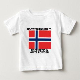 Norwegians Do It... Knee-Deep in White Powder Baby T-Shirt