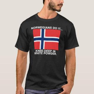 Norwegians Do It... Knee-Deep In White Powder. T-Shirt