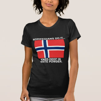 Norwegians Do It... Knee-Deep In White Powder. Tee Shirt