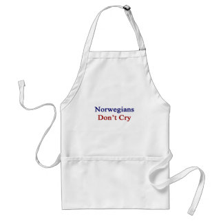 Norwegians Don't Cry Adult Apron