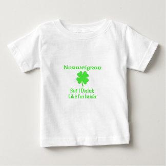 Norweigna But I Drink Like I'm Irish Baby T-Shirt