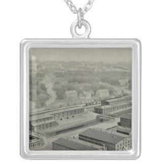 Norwich Bleachery 2 Square Pendant Necklace
