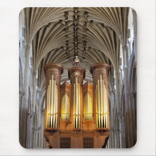 Norwich cathedral organ and ceiling mousepad