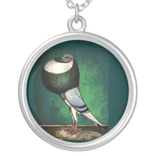 Norwich Cropper Blue Pied Personalized Necklace