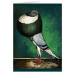 Norwich Cropper Blue Pied Stationery Note Card