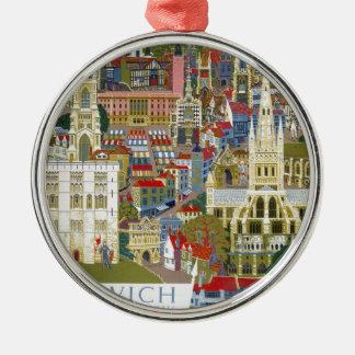 Norwich England Metal Ornament