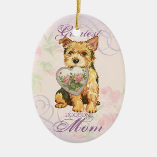 Norwich Heart Mom Ceramic Ornament