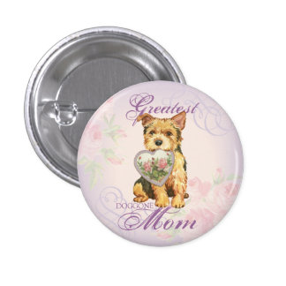 Norwich Heart Mom Pinback Button