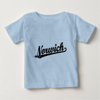 Norwich script logo in black baby T-Shirt