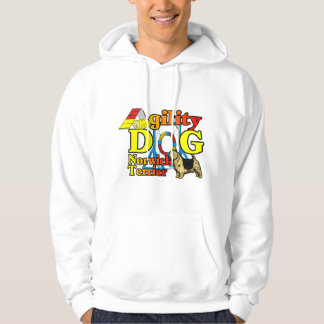 Norwich_Terrier_Agility Hoodie