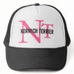 Norwich Terrier Breed Monogram Trucker Hat