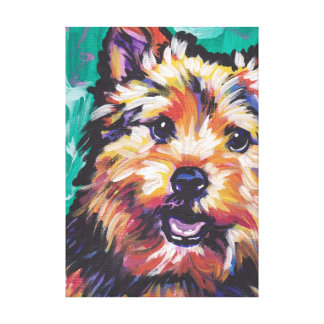 norwich terrier Bright Colorful Pop Dog Art Canvas Print
