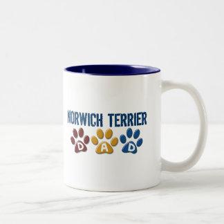 NORWICH TERRIER Dad Paw Print 1 Mugs