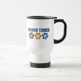 NORWICH TERRIER Dad Paw Print 1 Coffee Mugs
