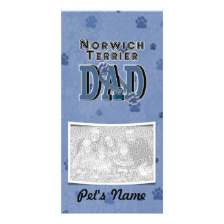 Norwich Terrier DAD Photo Cards