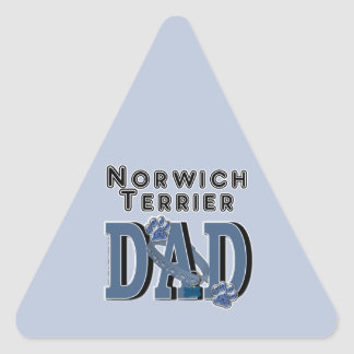 Norwich Terrier DAD Triangle Stickers