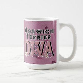 Norwich Terrier DIVA Coffee Mugs