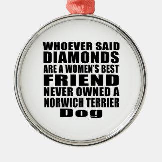 NORWICH TERRIER DOG BEST FRIEND DESIGNS METAL ORNAMENT