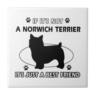 Norwich Terrier dog breed designs Ceramic Tile
