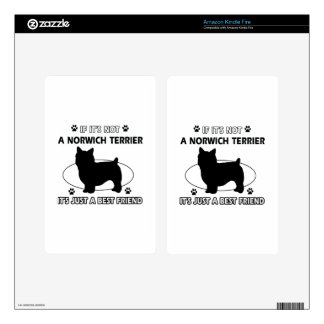 Norwich Terrier dog breed designs Skin For Kindle Fire