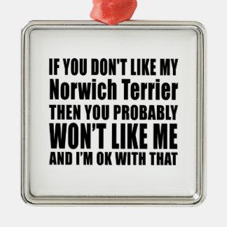Norwich Terrier Dog Designs Metal Ornament