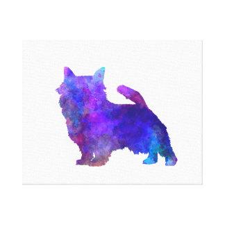 Norwich Terrier in watercolor Canvas Print