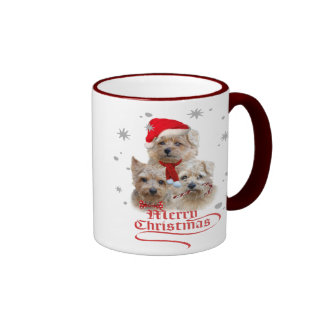 Norwich Terrier Merry Christmas Mugs