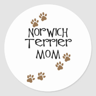 Norwich Terrier Mom for Norwich Terrier Dog Moms Round Stickers