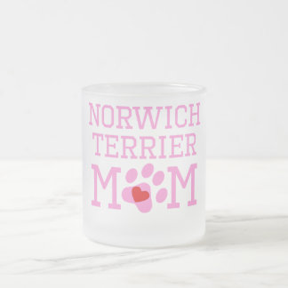 Norwich Terrier Mom Frosted Glass Coffee Mug