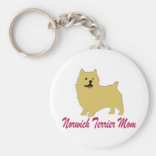 Norwich Terrier Mom Keychain