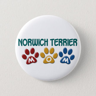 NORWICH TERRIER Mom Paw Print 1 Button