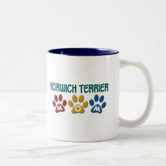 NORWICH TERRIER Mom Paw Print 1 Coffee Mugs