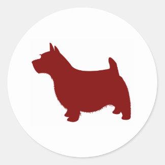 Norwich Terrier Pegatina Redonda