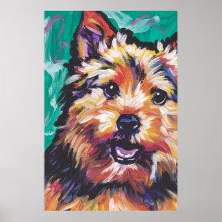 Norwich Terrier Pop Art Poster Print