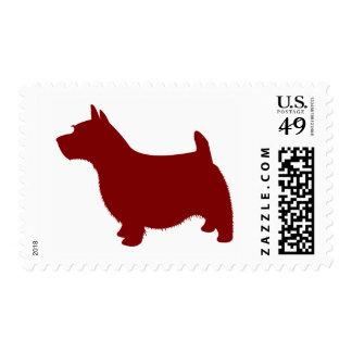 Norwich Terrier Sello Postal