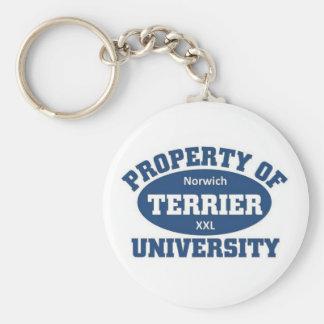 Norwich Terrier University Keychain