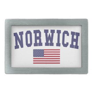 Norwich US Flag Belt Buckle