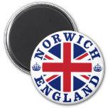 Norwich Vintage UK Design 2 Inch Round Magnet