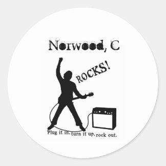 Norwood, CO Classic Round Sticker