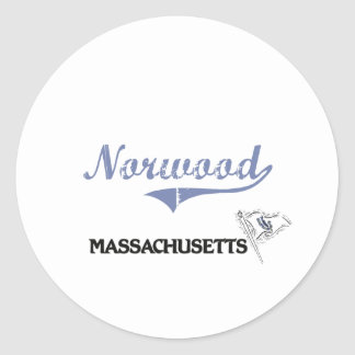 Norwood Massachusetts City Classic Classic Round Sticker