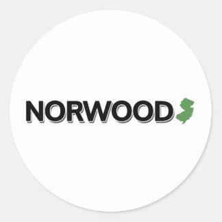 Norwood, New Jersey Classic Round Sticker