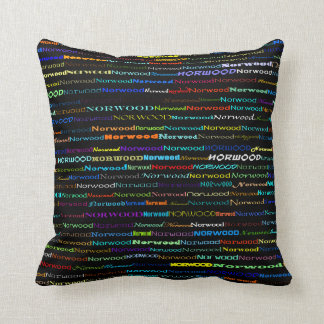Norwood Text Design I Throw Pillow