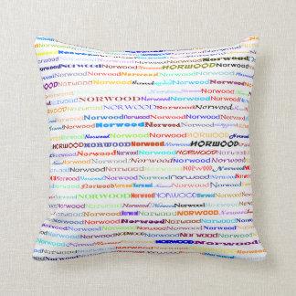Norwood Text Design II Throw Pillow