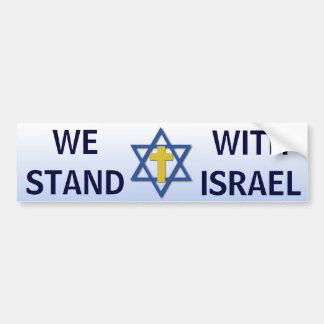 Nos colocamos con Israel Pegatina Para Auto