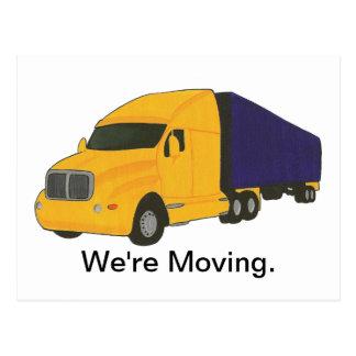 Nos estamos moviendo, cambio de postales de la